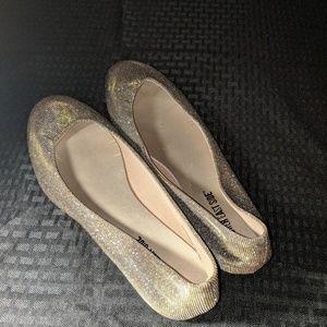 Lower east side gold/silver sparkle ballet slipper